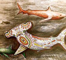 hammer head decorative sharks by melaniedann