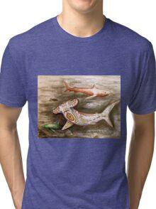 hammer head decorative sharks Tri-blend T-Shirt