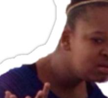 confused black girl Sticker