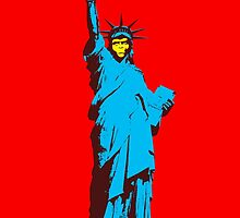 Planet of the Apes, statue of Liberty by monsterplanet