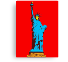 Planet of the Apes, statue of Liberty Canvas Print