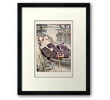 King Arthur's Knights - The Tale Retold for Boys and Girls by Sir Thomas Malory, Illustrated by Walter Crane 283 - The Death Journey of the Lily Maid Astolat Framed Print