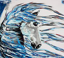 Like The Wind - Horse Art by Valentina Miletic by Valentina Miletic