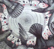 world wind of love birds Sticker