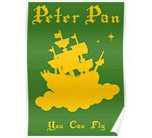 Peter Pan Minimalist Design Poster