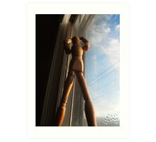 Window sill dancer Art Print