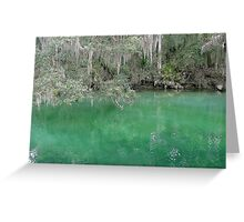 Blue springs dream Greeting Card