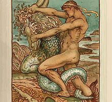 A Wonder Book for Girls and Boys by Nathaniel Hawthorne illustrated by Walter Crane 163 - Hercykes and the Old Man of the Sea by wetdryvac