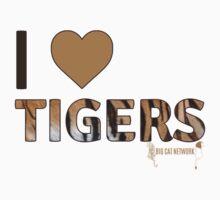 I Love Tigers Kids Clothes
