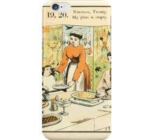 The Buckle My Shoe Picture Book by Walter Crane 1910 29 - Nineteen Twenty My Plate is Empty iPhone Case/Skin