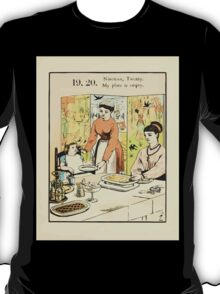 The Buckle My Shoe Picture Book by Walter Crane 1910 29 - Nineteen Twenty My Plate is Empty T-Shirt