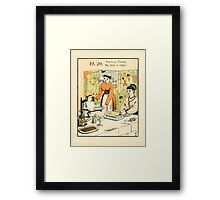 The Buckle My Shoe Picture Book by Walter Crane 1910 29 - Nineteen Twenty My Plate is Empty Framed Print