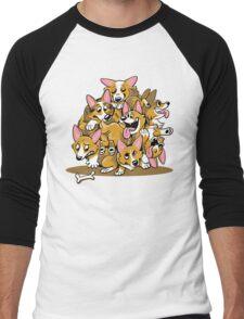 Corgi Cluster Men's Baseball ¾ T-Shirt