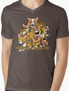 Corgi Cluster Mens V-Neck T-Shirt