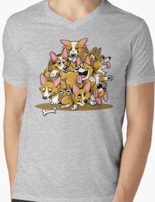 Corgi Cluster Mens V-Neck T-Shirt