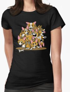 Corgi Cluster Womens Fitted T-Shirt