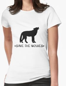 Save the Wolves Womens Fitted T-Shirt