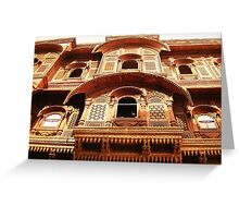 Indian Lattice, Jodhpur Fort Greeting Card