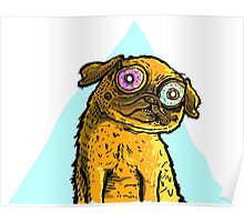 Spaced Out Pug Poster