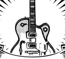 guitar shield Sticker