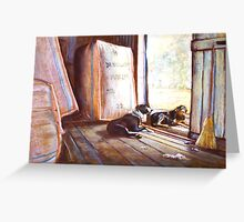 Shed Hands Greeting Card