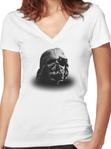 Darth Vader's Ruined Helmet Women's Fitted V-Neck T-Shirt