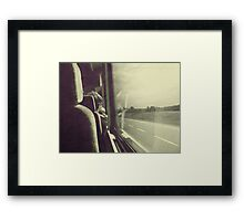 Goodbyes are not forever... Framed Print