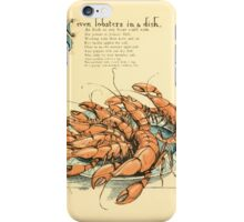 The Buckle My Shoe Picture Book by Walter Crane 1910 49 - Seven Lobsters in a Dish iPhone Case/Skin