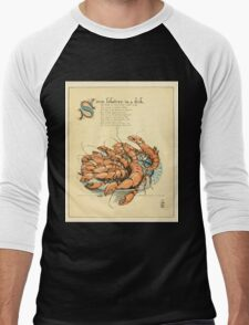 The Buckle My Shoe Picture Book by Walter Crane 1910 49 - Seven Lobsters in a Dish Men's Baseball ¾ T-Shirt