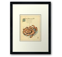 The Buckle My Shoe Picture Book by Walter Crane 1910 49 - Seven Lobsters in a Dish Framed Print