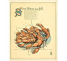 The Buckle My Shoe Picture Book by Walter Crane 1910 49 - Seven Lobsters in a Dish Photographic Print