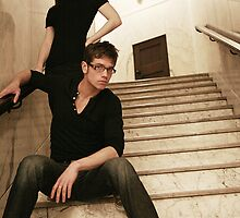 Stairwell Staredown by lauren ashley