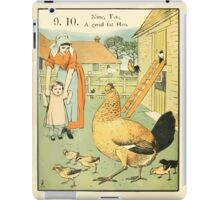 The Buckle My Shoe Picture Book by Walter Crane 1910 20 - Nine Ten A Goad Fat Hen iPad Case/Skin