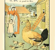 The Buckle My Shoe Picture Book by Walter Crane 1910 20 - Nine Ten A Goad Fat Hen by wetdryvac