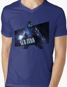 Mortal Kombat - Sub-Zero Mens V-Neck T-Shirt