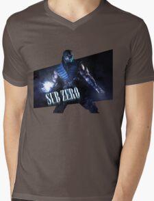 Mortal Kombat - Sub-Zero Mens V-Neck T-Shirt