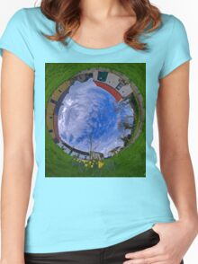 Hanna's Close, County Down (Sky In) Women's Fitted Scoop T-Shirt