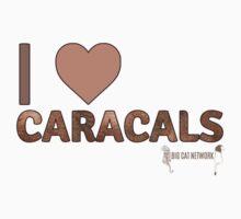 I Love Caracals One Piece - Short Sleeve