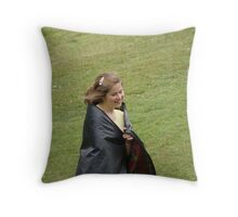 she walks on, thinking of the past Throw Pillow