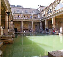 Roman Baths, Bath, England by Maureen Smith
