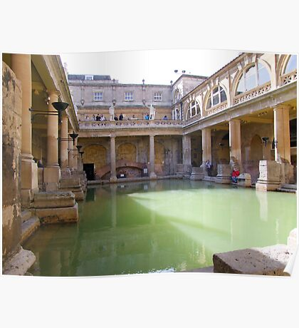 Roman Baths, Bath, England Poster