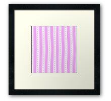Freehand stripes in pinks and white Framed Print