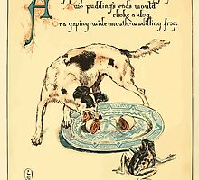 The Buckle My Shoe Picture Book by Walter Crane 1910 40 - A Gaping Wide Mouth Waddling frog by wetdryvac