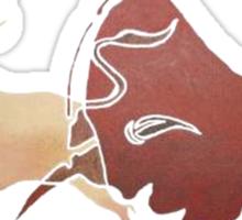 Bull Fight In Brown Sticker