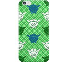Japanese rabbit print, green, blue and white iPhone Case/Skin