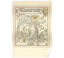 Queen Summer, or, The Tourney of the Lilly and the Rose by Walter Crane 1891 12 - And as the winds about them played Poster