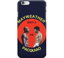 Mayweather vs Pacquiao iPhone Case/Skin