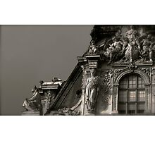 Louvre Rooftop Photographic Print