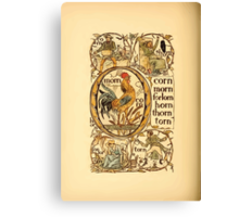 The Golden Primer by John Miller Dow, Illustrated by Walter Crane 1884 30 - Corn Morn Forlorn Horn Thorn Torn Canvas Print