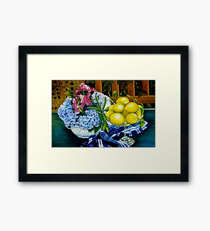 Still LIfe - Oil Painting Framed Print